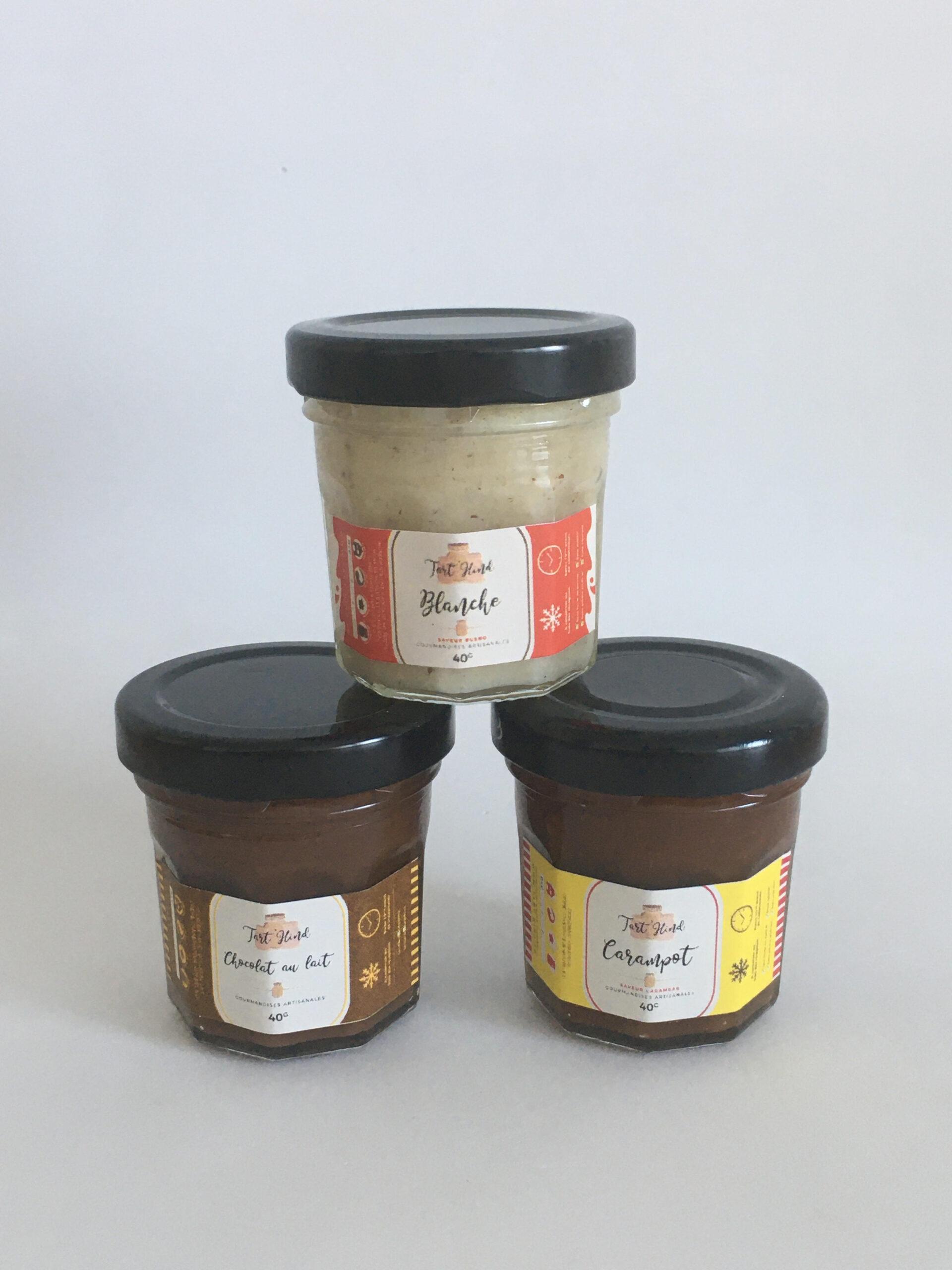 trio de pâte à tartiner